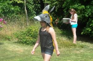 Mrs Candlin's beautiful donkey head