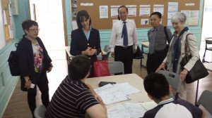 Meeting Students in Guangzhou Foreign Language School